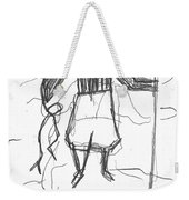 After Billy Childish Pencil Drawing B2-9 Weekender Tote Bag