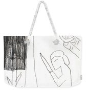 After Mikhail Larionov Pencil Drawing 10 Weekender Tote Bag