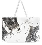 After Mikhail Larionov Pencil Drawing 6 Weekender Tote Bag