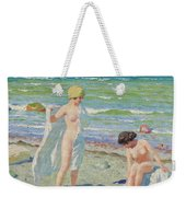 After The Swim  Oil On Canvas Weekender Tote Bag