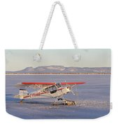 Airplane In The Harbour Weekender Tote Bag