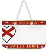 Alabama State License Plate Weekender Tote Bag