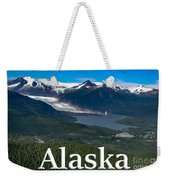 Alaska - Mendenhall Glacier And Auke Lake Weekender Tote Bag