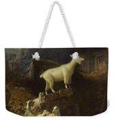 Albert_bierstadt_-_rocky_mountain_goats Weekender Tote Bag