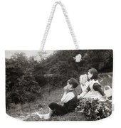 Alexander Keighley - Children On A Picnic, Ca 1890 Weekender Tote Bag