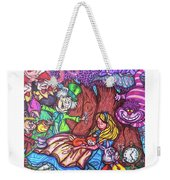 Alice In Wonderland  Weekender Tote Bag