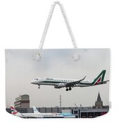 Alitalia Embraer 190 Bird Near Miss Weekender Tote Bag