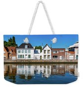Along The Canal. Flanderenfietsroute.   Weekender Tote Bag