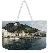 Amalfi Town Seen From Ferry Approaching Weekender Tote Bag
