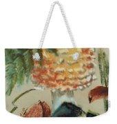 Amanita Muscaria Weekender Tote Bag by Barbara Keith