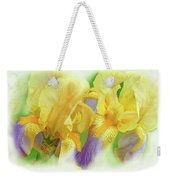 Amenti Yellow Iris Flowers Weekender Tote Bag