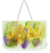 Amenti Yellow Iris Flowers Weekender Tote Bag