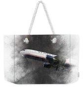 American Airlines Boeing 767-200 Painting Weekender Tote Bag