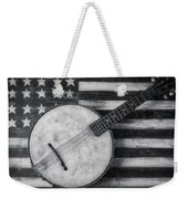 American Banjo Black And White Weekender Tote Bag
