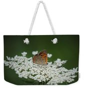 American Copper On Queen Anne's Lace Weekender Tote Bag