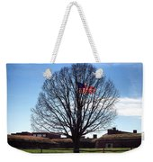 American Flag Tree At Fort Mchenry Weekender Tote Bag by Bill Swartwout Photography