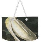 American White Pelican, Pelecanus Erythrorhynchos By Audubon Weekender Tote Bag