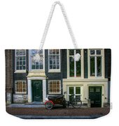 Amsterdam Bike Scene Weekender Tote Bag