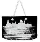 Amsterdam Skyline Brush Stroke White Weekender Tote Bag