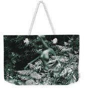 An Alien Walking Through The Forest Weekender Tote Bag