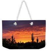 An Orange Glow Fills The Desert  Weekender Tote Bag