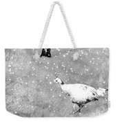 And Winter Lingered Weekender Tote Bag by Mary Lee Dereske