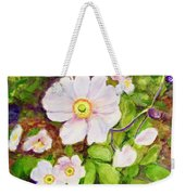 Anemones Birthday Card Weekender Tote Bag