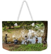 Angkor Fishing Family Weekender Tote Bag