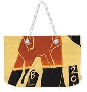 Antelope Black Ivory Woodcut9 Weekender Tote Bag