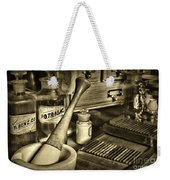Apothecary-vintage Pill Roller Sepia Weekender Tote Bag