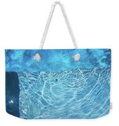 Aqua Agua Abstract Five Weekender Tote Bag