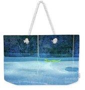 Aqua Agua And Leaf Weekender Tote Bag