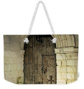 arched door at Fontevraud church Weekender Tote Bag