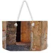 Arches Of A Medieval Castle Entrance In Algarve Weekender Tote Bag