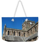 architecture of Hexham cathedral and clock tower Weekender Tote Bag