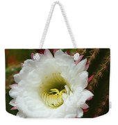 Argentine Giant White Flower And Red Bud Weekender Tote Bag