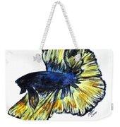 Art Doodle No.34 Betta Fish Weekender Tote Bag by Clyde J Kell