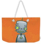 Happy Robot Weekender Tote Bag by John Schwegel