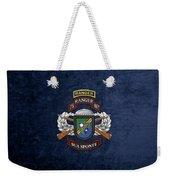75th Ranger Regiment - Army Rangers Special Edition Over Blue Velvet Weekender Tote Bag