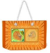 Lion Pair Warm Weekender Tote Bag