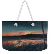 Malletts Bay Sunrise Colchester Vermont Weekender Tote Bag