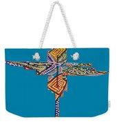 The Abstract Cross Weekender Tote Bag