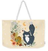 Autumn Garden Moonlit Kitty Cat Weekender Tote Bag