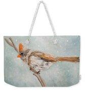 Snow Flurry Weekender Tote Bag