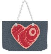 Meat Heart Weekender Tote Bag