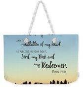 Meditation Of My Heart Weekender Tote Bag