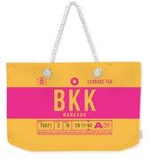Retro Airline Luggage Tag 2.0 - Bkk Bangkok Thailand Weekender Tote Bag