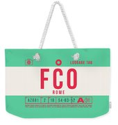 Retro Airline Luggage Tag 2.0 - Fco Rome Italy Weekender Tote Bag