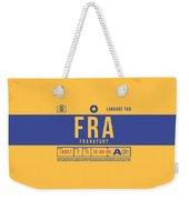 Retro Airline Luggage Tag 2.0 - Fra Frankfurt Germany Weekender Tote Bag