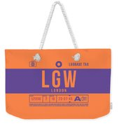 Retro Airline Luggage Tag 2.0 - Lgw London Gatwick Airport United Kingdom Weekender Tote Bag